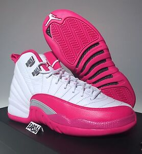 Nike Air Jordan Xii 12 Valentines Day Vivid Dynamic Pink And White