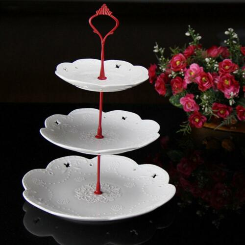 3Tier Cake Plate Stand Crown Fitting Hardware Rod Plate Wedding;