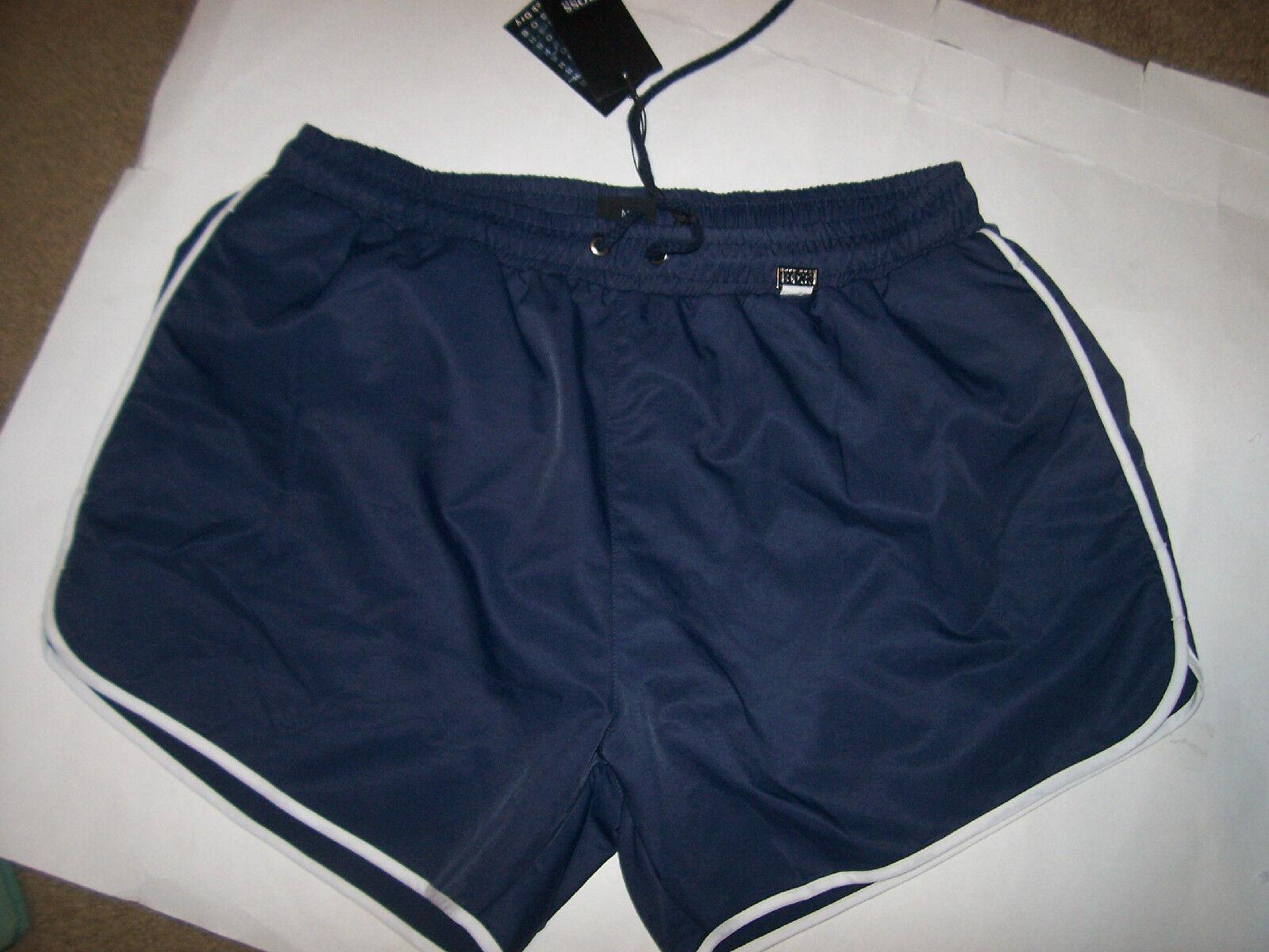 NEW HUGO BOSS navy bluee swim trunks board shorts swimwear Springfish Large or XL