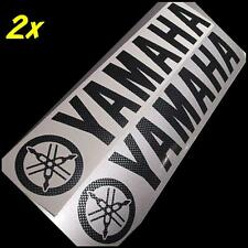 Yamaha CARBON FIBER 8.25in 21cm decals stickers r6 fz1 r1 FZ07 Majesty Stryker