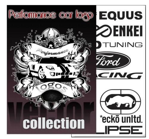 Performance car logo vector clip art eps collecton tracer