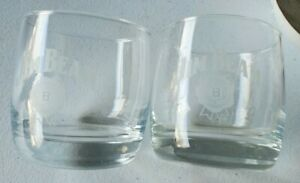 2-Jim-Beam-Whiskey-Rocks-Etched-Glass-Limited-Edition
