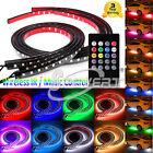 4 x RGB LED Strip Under Car Tube Underglow Underbody Glow System Neon Light Kit