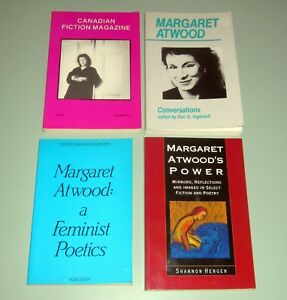 4-Books-MARGARET-ATWOOD-INTERVIEWS-CONVERSATIONS-Handmaids-Tale-Feminism-Poetry