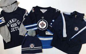 Reebok-Winnipeg-Jets-Toddler-4T-Jersey-Jacket-Shirt-amp-Toque