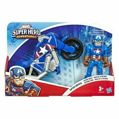 Playskool Capitan America Marvel Super Eroe AVVENTURE VITTORIA Racer