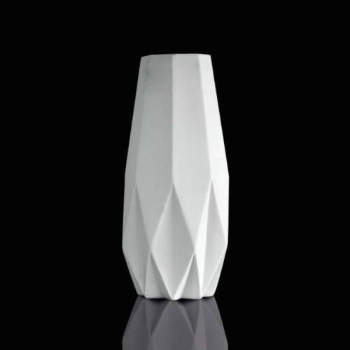 33,5cm D 14cm weiß biskuit matt Goebel Kaiser Porzellanvase Polygono Star H
