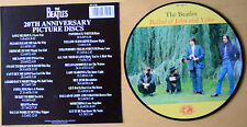"MINT! THE BEATLES BALLAD OF JOHN AND YOKO 20TH ANNIVERSARY 7"" Vinyl Picture Disc"