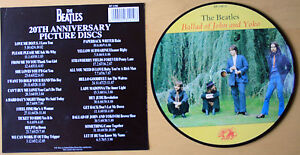Beatles-Picture-Disc-7-034-Vinyl-The-Ballad-of-John-And-Yoko-The-20th-Anniversary
