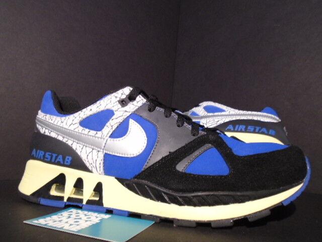 2006 Nike Air STAB PREMIUM JORDAN PACK CEMENT BLUE RIBBON BLACK CEMENT PACK GREY WHITE 10.5 45112a
