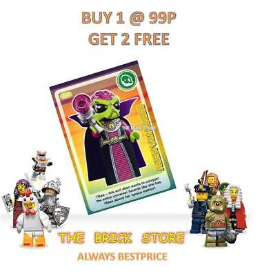 NEW CREATE THE WORLD TRADING CARD FREE GIFT #034 LEGO ALIEN VILLAINESS