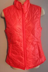 NWT J CREW Layering Vest with Primaloft Bright Orange Sz XS Puffer $128 Sold Out