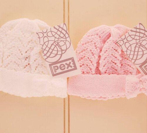 Magnifique Fille Bébé Chapeau avec nœud en blanc par Pex
