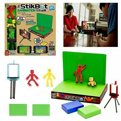 Stikbot Zanimation Studio Pro Two Figure Set Stop Motion Animation App Toys