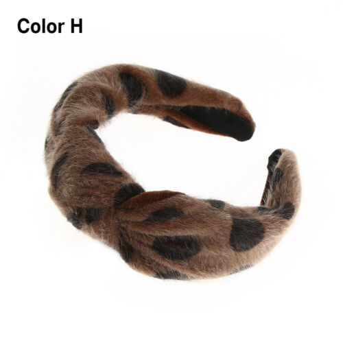 Hair Accessories Women Knot Hairband Leopard Printed Mink hair Knotted Headband