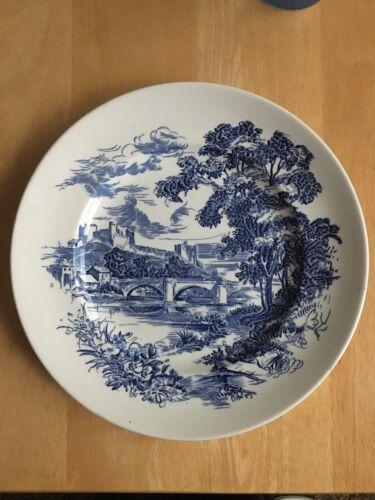 "Enoch Wedgwood Tunstall Blue Countryside 10"" plate"