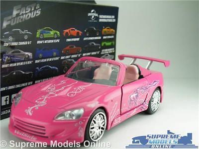 HONDA S2000 CAR MODEL FAST /& FURIOUS SUKI/'S 1:32 SIZE JADA 97609 AND PINK T34Z