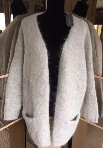 £ Maat Grey Cardigan 16 Rrp Cocoon Soft 20 L 119 Gorgeous Mint Nieuw Alpaca Velvet 8Ok0PXnw