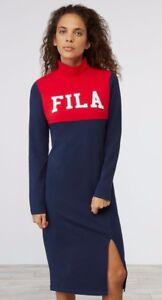 60f7a007 Details about NEW FILA WOMEN RIO DRESS LW173E81 navy LONG DRESS