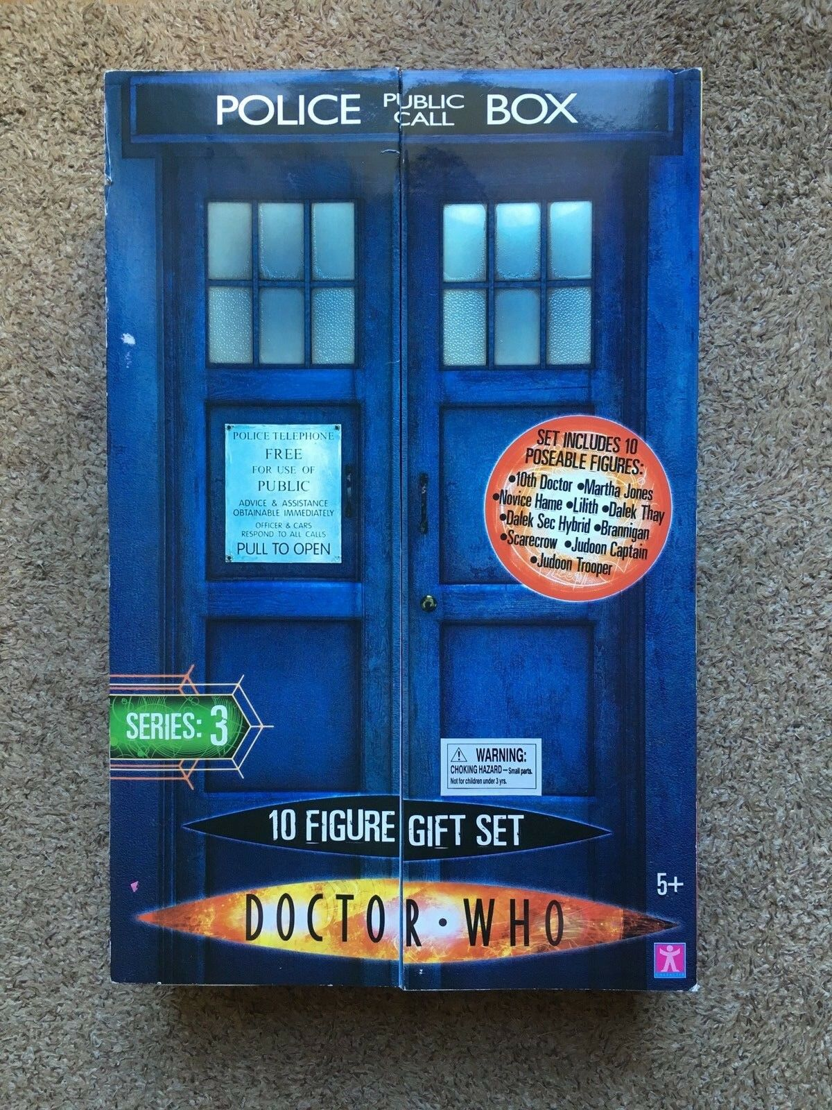 Dr Who series 3 10 action figure box set