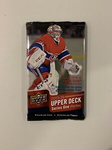 2015-16-Upper-Deck-Series-One-Retail-Pack-8-Cards-Connor-McDavid-Young-Guns