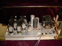 The Fisher Stereo 7591 Tube Amplifier Chassis 680-A The Fisher 7591 Tubes