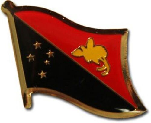 Papua New Guinea Country Flag Bike Motorcycle Hat Cap lapel Pin