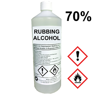 rubbing alcohol 70 1 litre lab grade isopropyl alcohol isopropanol 1l 644221892428 ebay. Black Bedroom Furniture Sets. Home Design Ideas