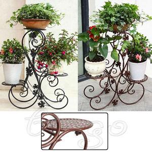 72 71 25 cm metall blumenst nder regal blumentreppe. Black Bedroom Furniture Sets. Home Design Ideas