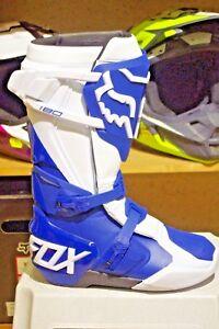 Taille 41 Détails Motocross 180 Homme MX Tout M8 Bleue sur terrain Bottes FOX Nnvwm80O