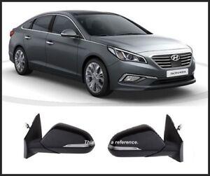 Genuine OEM LED Puddle Side Mirror Assy LH Black TB7 For 15 16 Hyundai Sonata LF