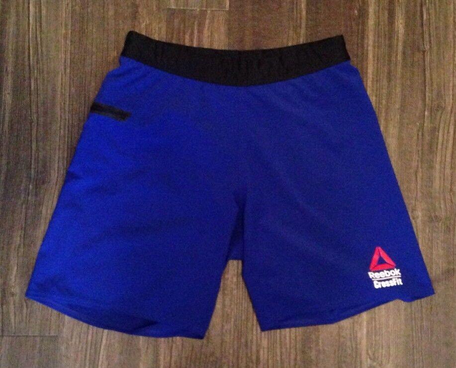 Herren Rare Designer Reebok Crossfit Games 2016 Athletic Shorts, Blau, Größe Small