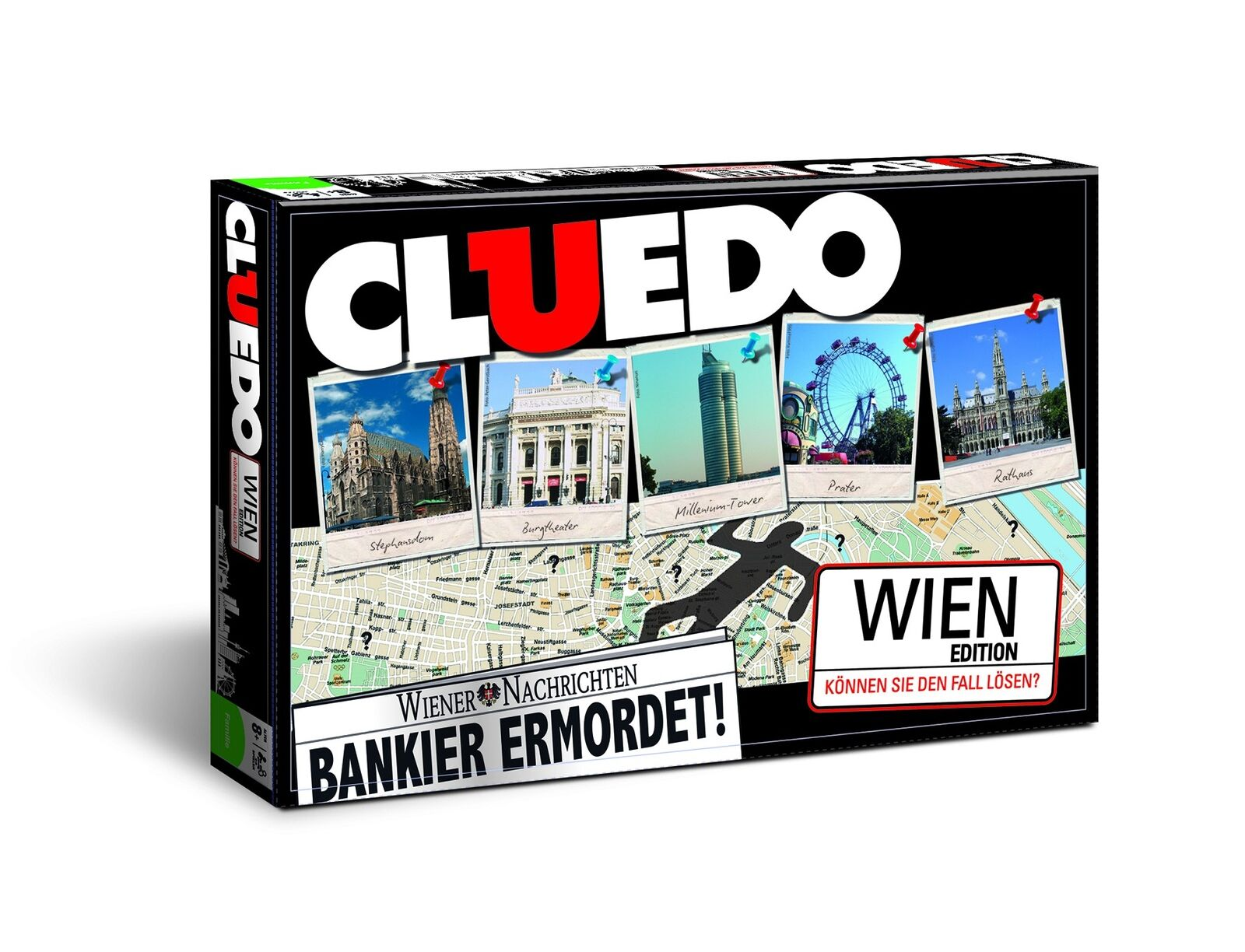Cluedo Vienna Board Game Party Game Detektivspiel Detective Game