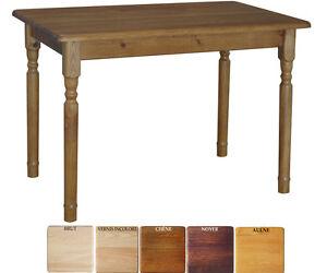 Table rectangulaire pour cuisine ou salle à manger - pin ciré 100 ...