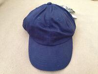 Adams Original Scrunchie Cap Hat Navy Blue Womens Ladies One Size Fits Cotton