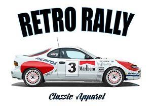 Toyota Celica GT4 ST185. Retro Rally. japonés Coche Clásico. Markku Alen. WRC.