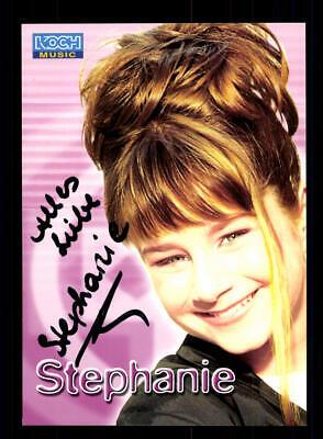 Stefanie Autogrammkarte Original Signiert ## Bc 147089 National