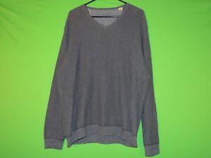 Tommy-Bahama-Mens-Size-L-Large-Blue-V-Neck-Ribbed-Long-Slv-Sweatshirt