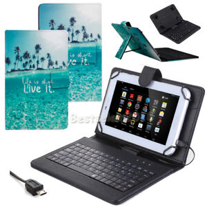 super popular 99b70 9b315 Details about UK For Lenovo Tab E10 10.1 Inch Tablet PC Print Leather Case  USB Keyboard Cover