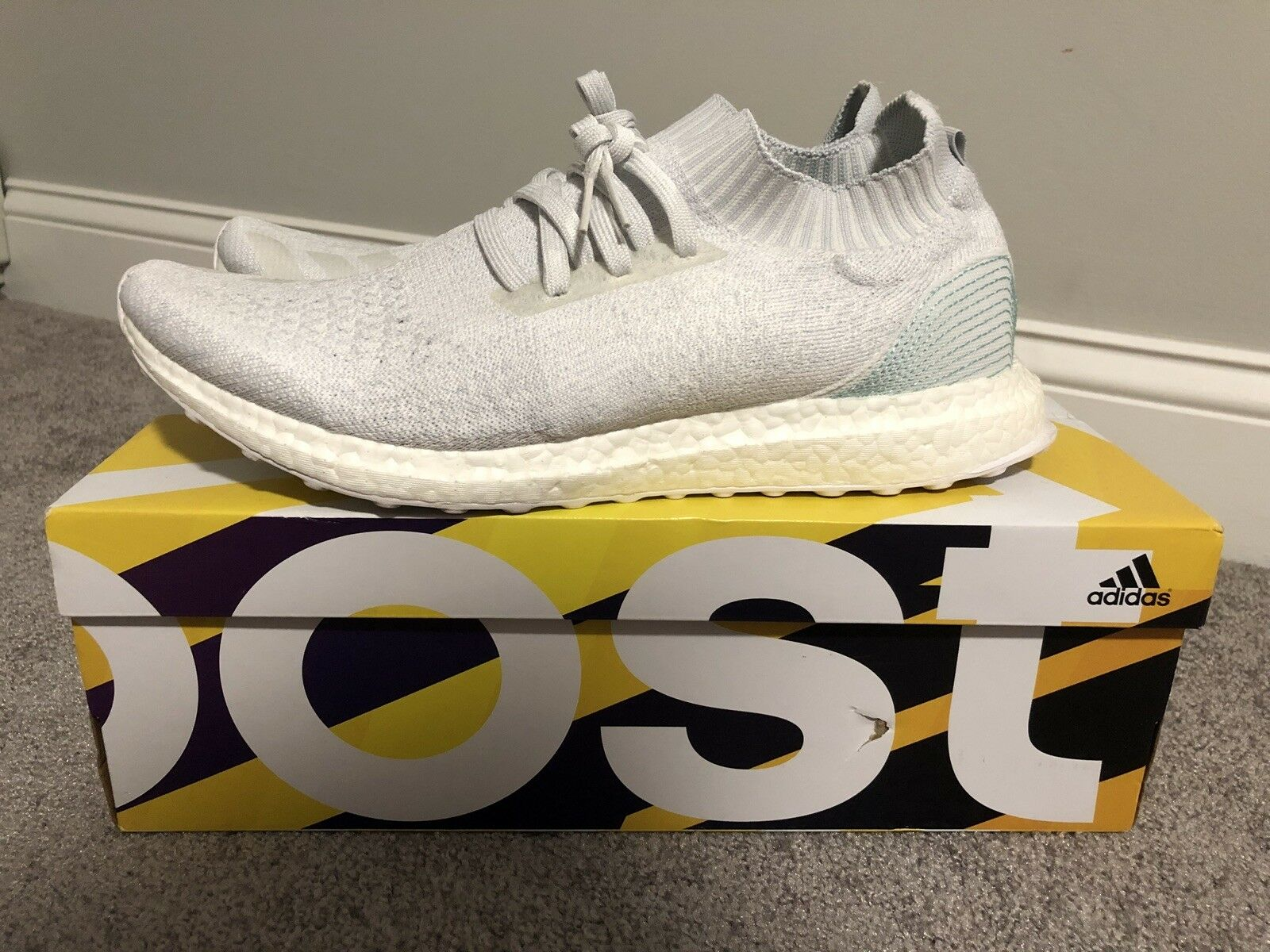 Adidas x Parley White Ultra Boost Uncaged LTD BB4073 PK Size 11.5 Ultraboost NMD PK BB4073 08e023