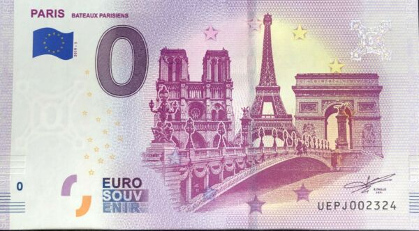 100% De Qualité Billet 0 Euro Paris Bateaux Parisiens France 2019-1 N° Suite 2324 Soulager La Chaleur Et La Soif.