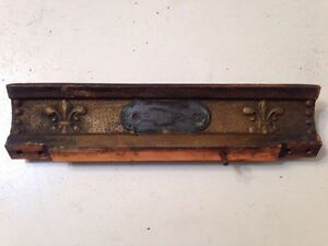 Antique National Cash Register Model 216 Part Fleur De Lis Bar Ornate Trim
