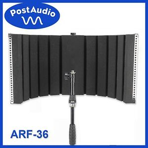 post audio arf 36 new folding portable vocal booth reflection filter with bag ebay. Black Bedroom Furniture Sets. Home Design Ideas