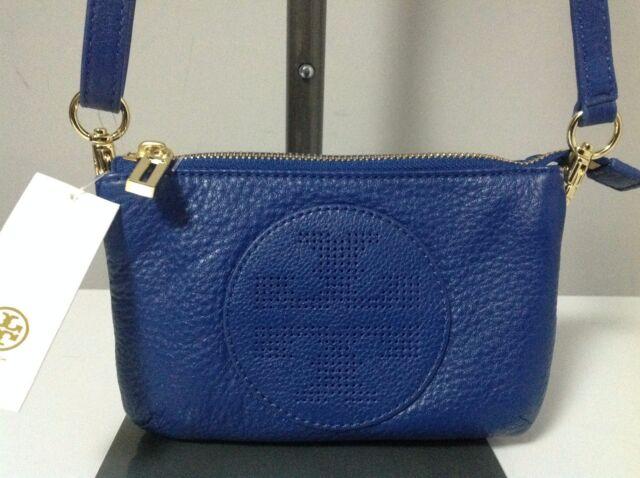 b17a7bc332e 250 Tory Burch Kipp Small Perf Logo T Blue Nile Leather Crossbody ...