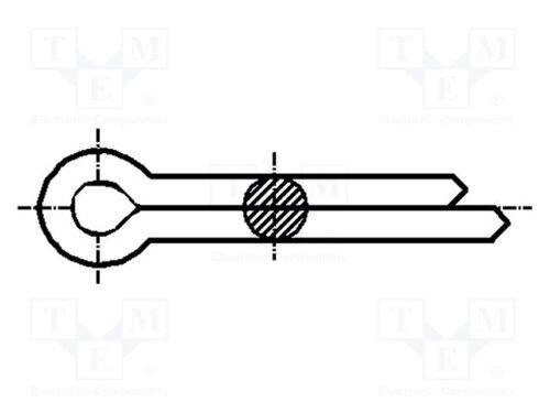 10mm; DIN Splint; Stahl; BN 1234 94; ISO 912; ¨ 1mm; L 200 st
