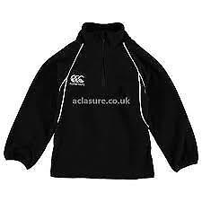 Canterbury-Kids-Black-Fleece-Half-Zip-OTH-Pullover-UK-size-5-6-years-REF63