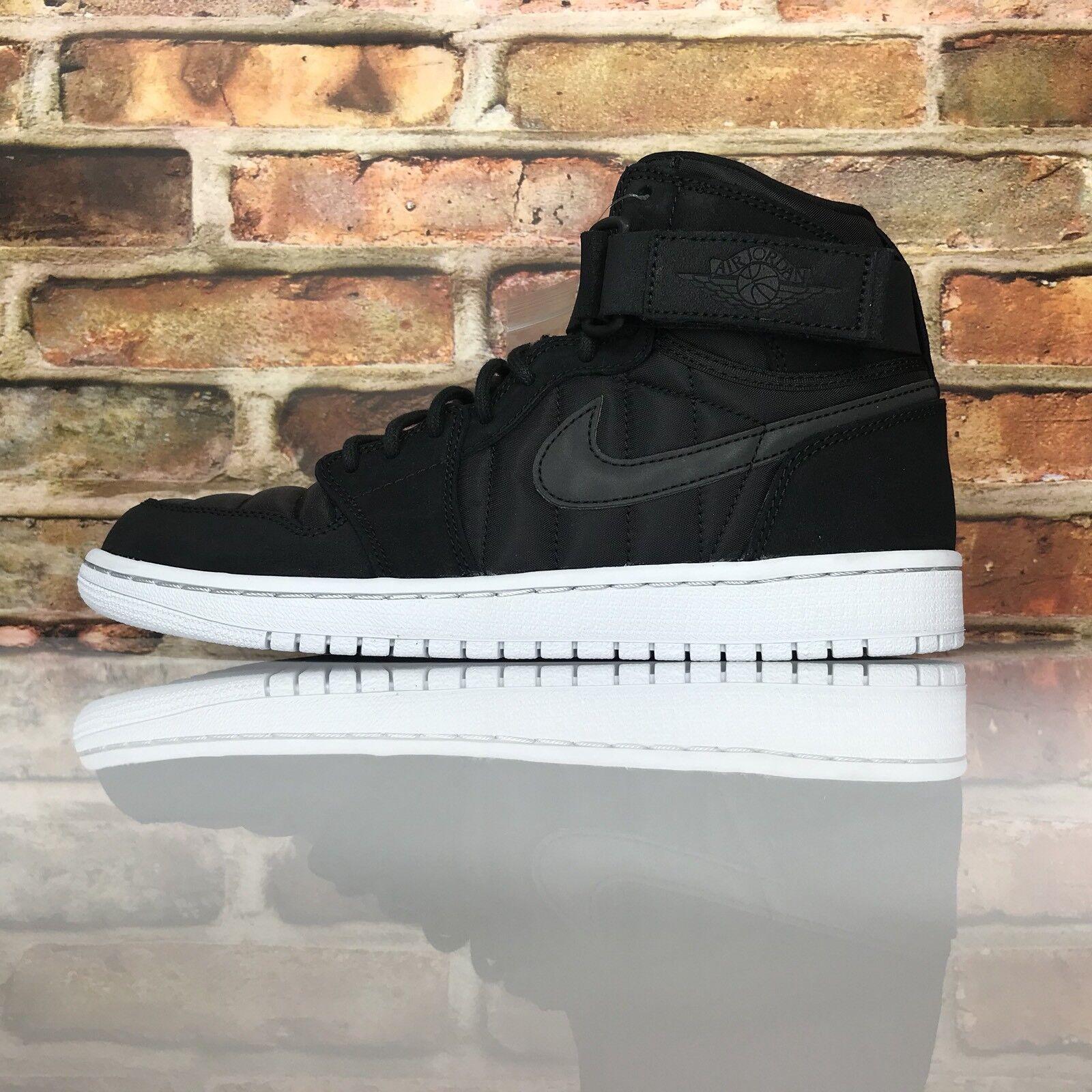 Air Jordan 1 High Strap Padded Pack Men Size 8.5 Black Pure Platinum 342132 004