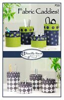 Fabric Caddies Sewing Pattern, From Vanilla House,