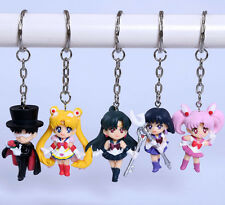 Sailor moon Anime Manga Schlüsselanhänger mit Figuren Anhänger 5er Set H:5cm Neu