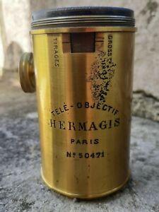 Objectif photo ancien laiton bronze HERMAGIS appareil photo ancien